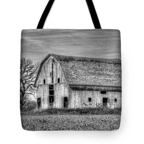 Weathered Wood Of Iowa Tote Bag