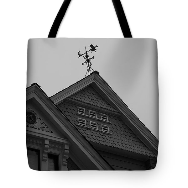 Weathervane In Black And White Tote Bag