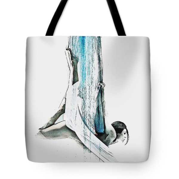 Tote Bag featuring the digital art Web - Aerial Dancer by Galen Valle