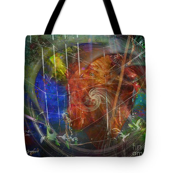 Tote Bag featuring the digital art Web Of Collective Unconsciousness by Rhonda Strickland