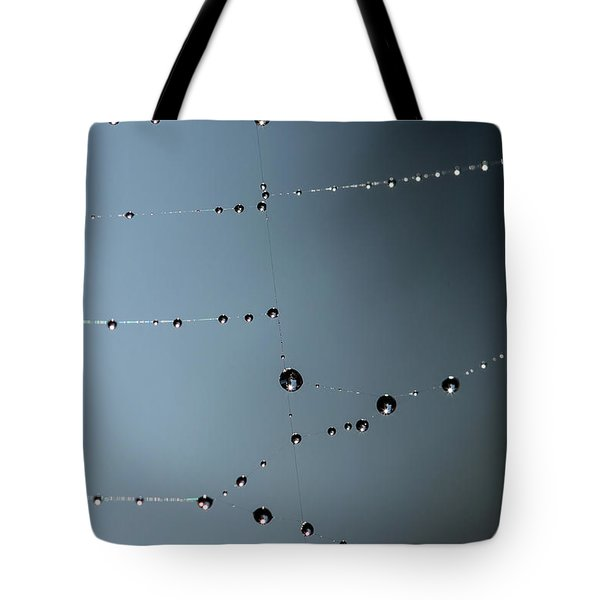 Tote Bag featuring the photograph Web Water by Rebecca Cozart