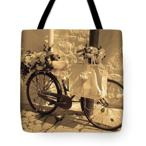 Wedding Bike Tote Bag