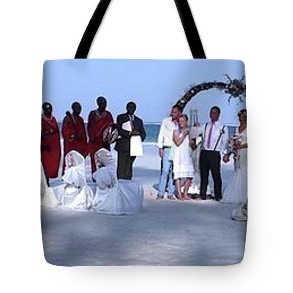 Wedding Complete Panoramic Kenya Beach Tote Bag