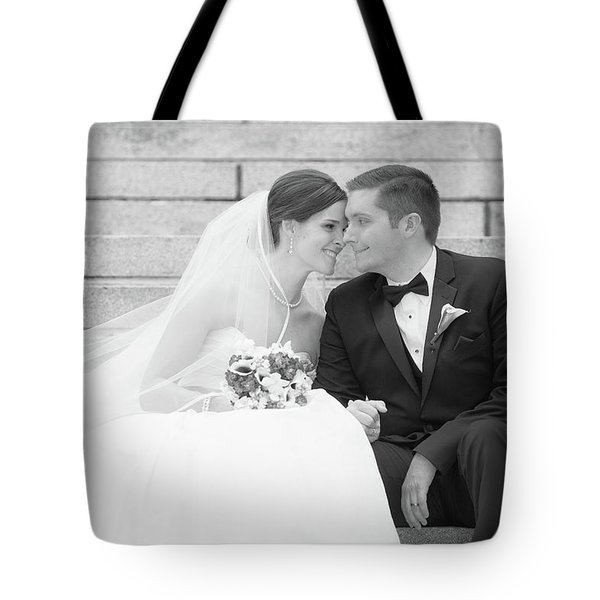 Tote Bag featuring the photograph Wedding Connection by Coby Cooper