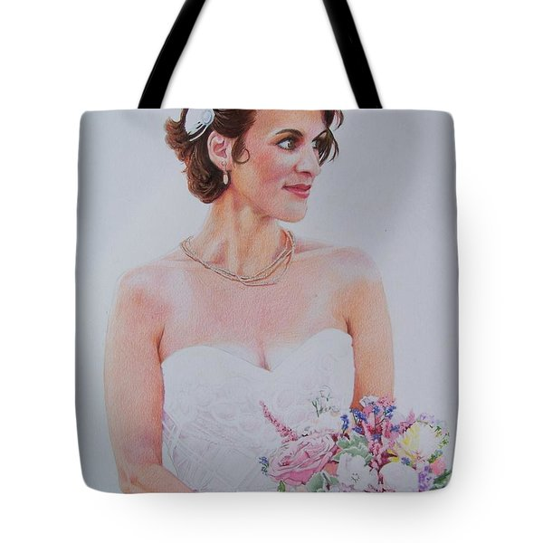 Tote Bag featuring the mixed media Wedding Day by Constance DRESCHER