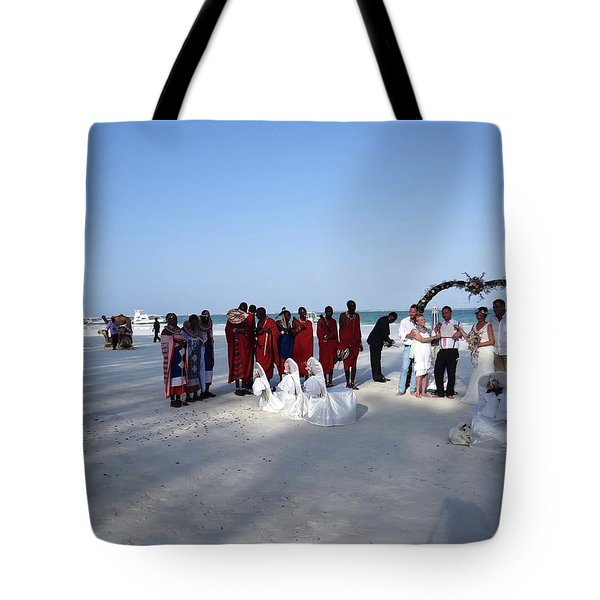 Wedding In The Afternoon Shadow Tote Bag