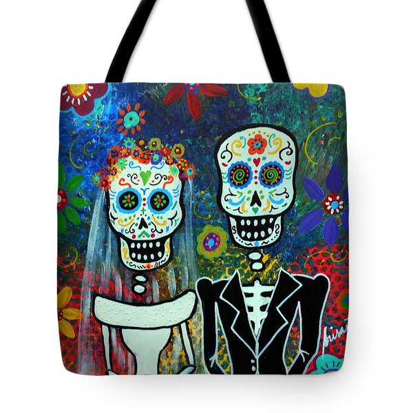 Wedding Muertos Tote Bag