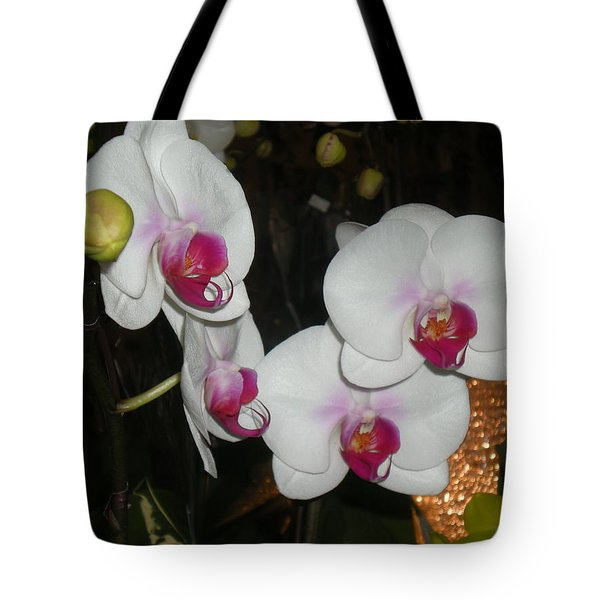 Tote Bag featuring the photograph Wedding Orchids by Kim Prowse