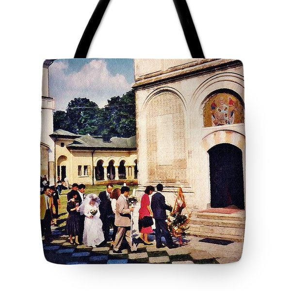Wedding Procession In Muntenia Tote Bag by Sarah Loft