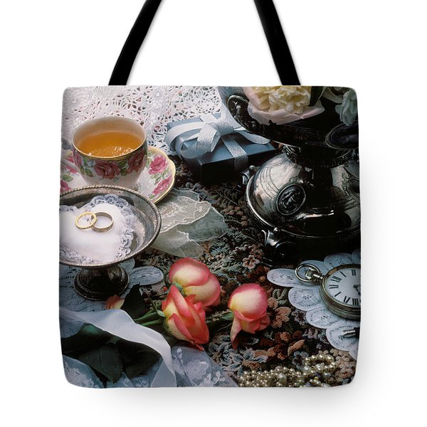 Wedding Rings Tote Bag by Garry Gay