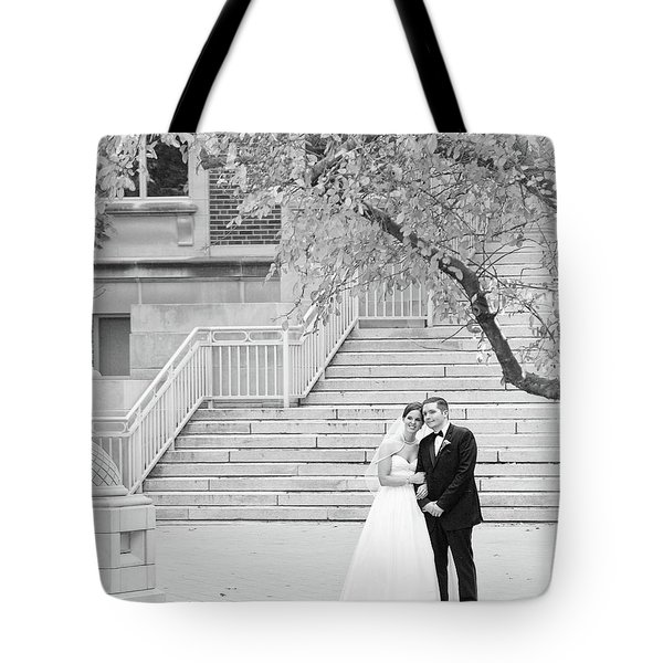 Tote Bag featuring the photograph Wedding Steps by Coby Cooper