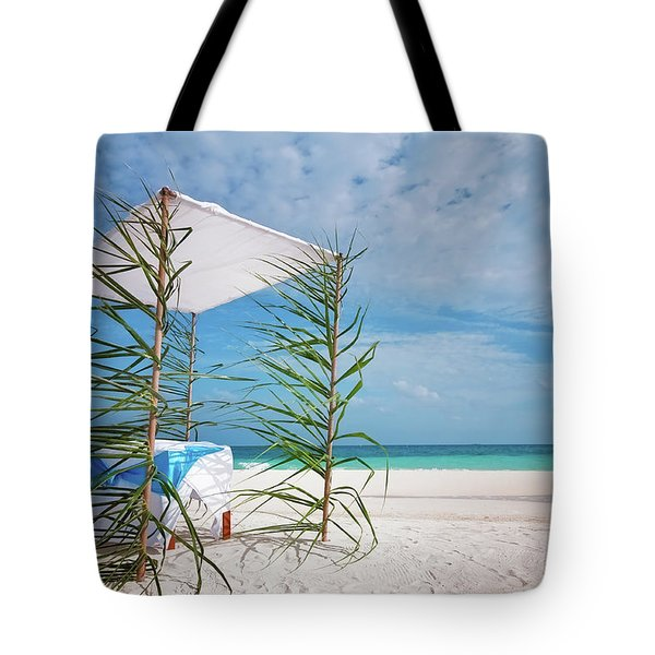 Tote Bag featuring the photograph Wedding Tent On The Beach by Jenny Rainbow