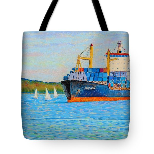Wednesday Night Races Tote Bag by Rae  Smith