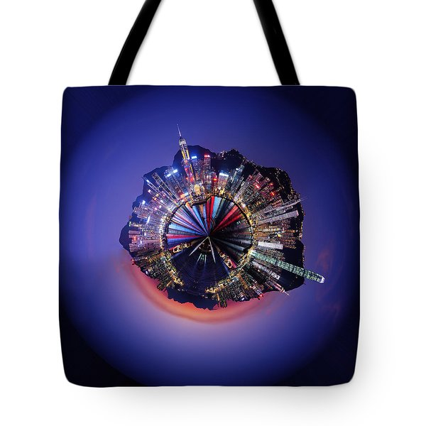 Wee Hong Kong Planet Tote Bag by Nikki Marie Smith