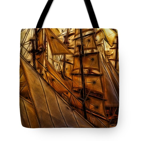 Tote Bag featuring the photograph Wee Sails by Cameron Wood