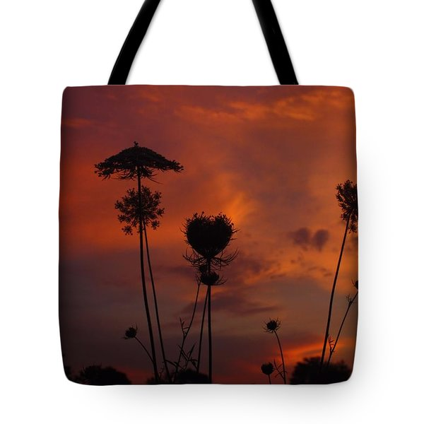 Weeds In The Sunrise Tote Bag