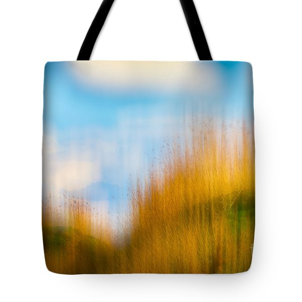 Weeds Under A Soft Blue Sky Tote Bag