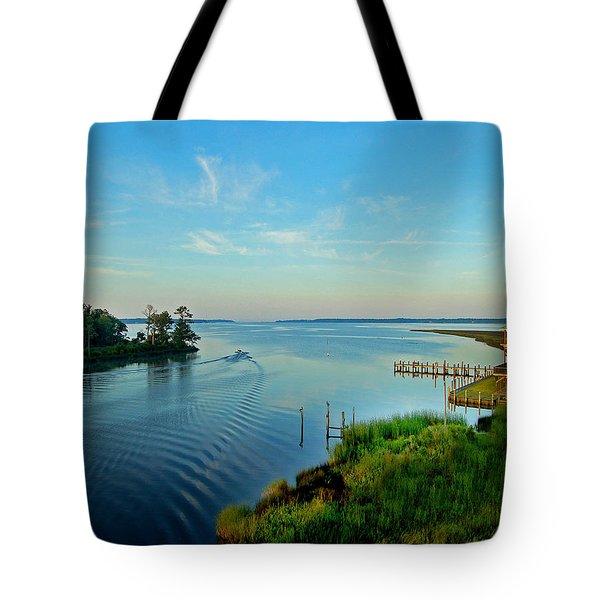 Weeks Bay Going Fishing Tote Bag by Michael Thomas