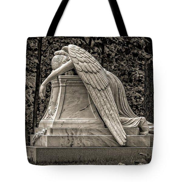 Weeping Angel - Sepia Tote Bag