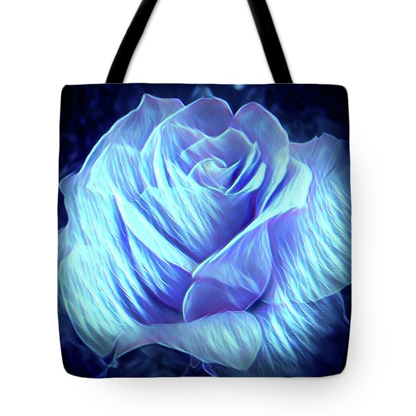 Weeping Blue Rose  Tote Bag