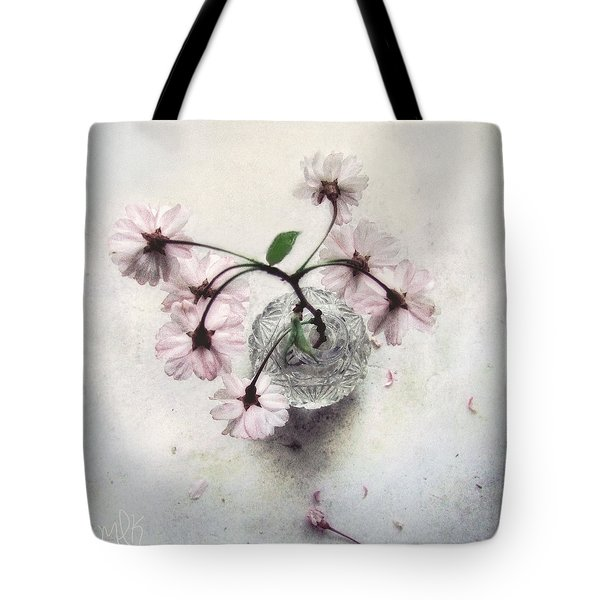 Weeping Cherry Blossoms Still Life Tote Bag by Louise Kumpf