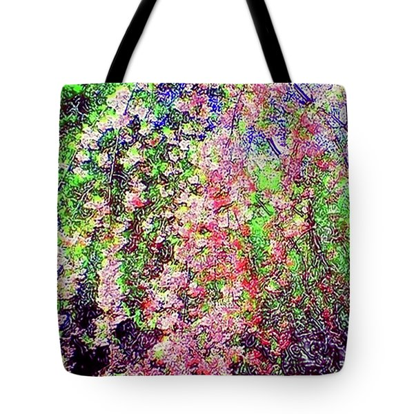 Weeping Cherry Tote Bag by Holly Martinson