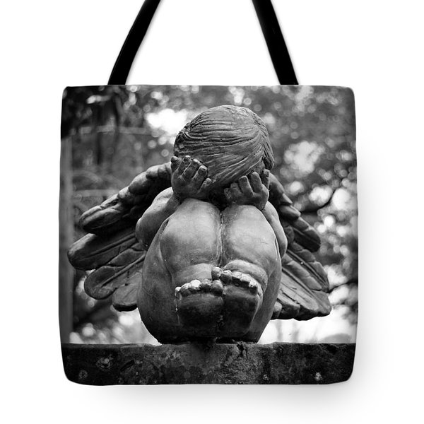 Weeping Child Angel Tote Bag
