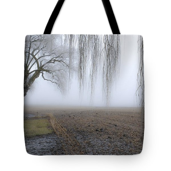 Weeping Frozen Willow Tote Bag