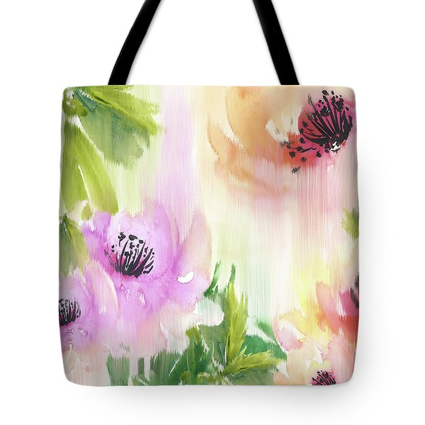 Tote Bag featuring the painting Weeping Rose Forest by Colleen Taylor