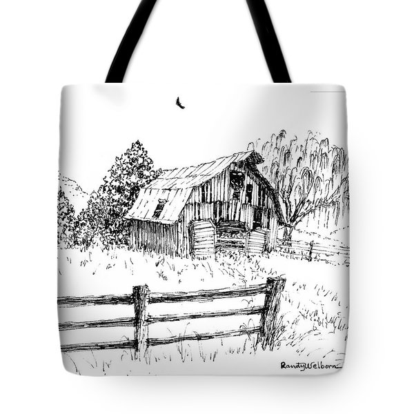 Weeping Willow And Barn One Tote Bag