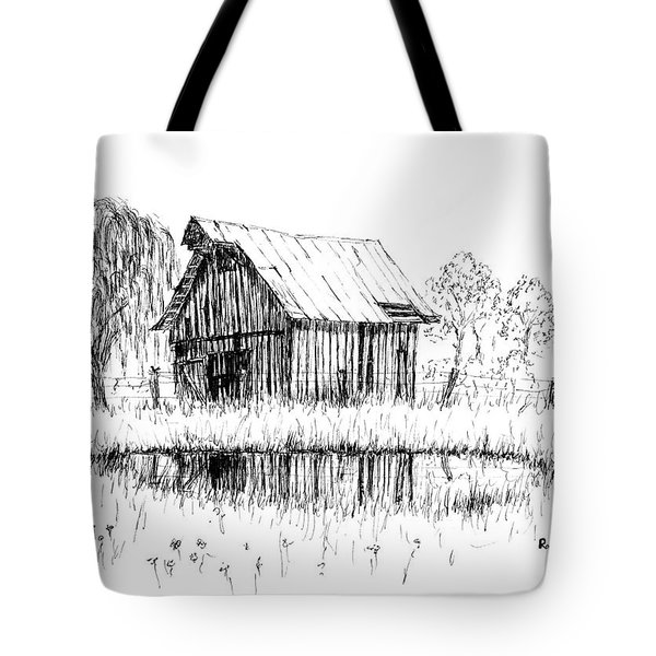 Weeping Willow And Barn Two Tote Bag