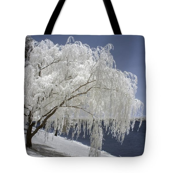 Weeping Willow In Infrared Tote Bag
