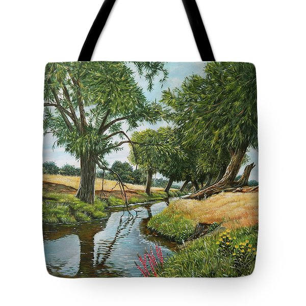 Weeping Willows At Beverley Brook Tote Bag