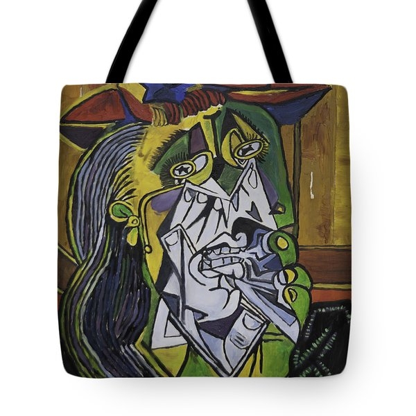 Picasso's Weeping Woman Tote Bag