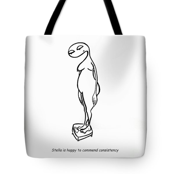 Weighty Issues Tote Bag by Leanne Wilkes
