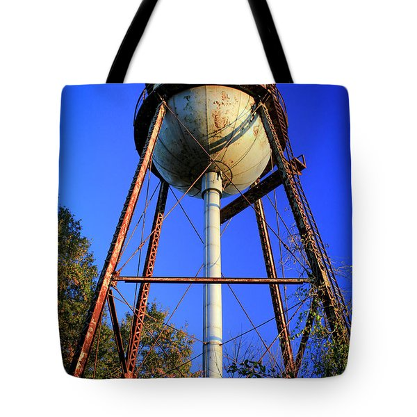 Tote Bag featuring the photograph Weighty Water Cotton Mill  Water Tower Art by Reid Callaway
