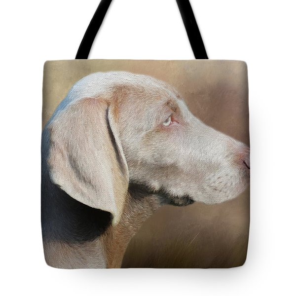 Weimaraner Adult - Painting Tote Bag