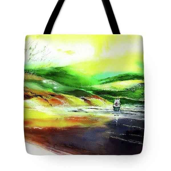 Tote Bag featuring the painting Welcome Back by Anil Nene