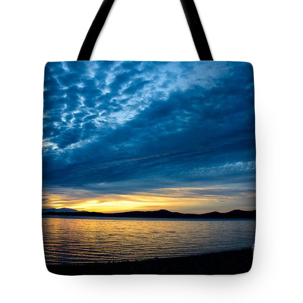 Welcome Beach Storm Sunset Tote Bag