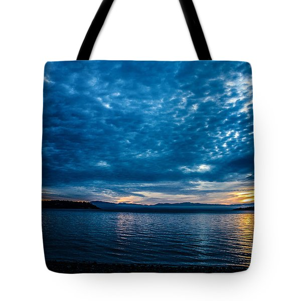 Welcome Beach Stormy Sky 2 Tote Bag by Elaine Hunter