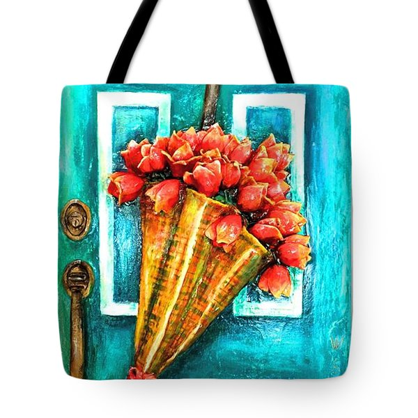 Welcome Door Tote Bag