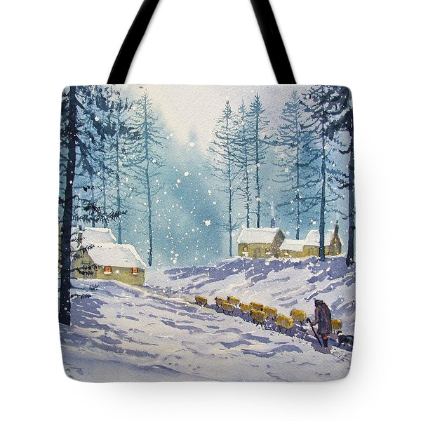 Welcome End To A Winter's Day Tote Bag