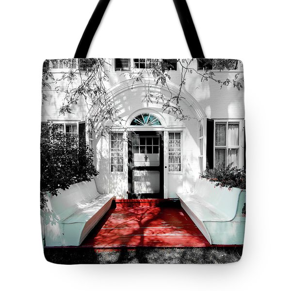 Tote Bag featuring the photograph Welcome by Greg Fortier