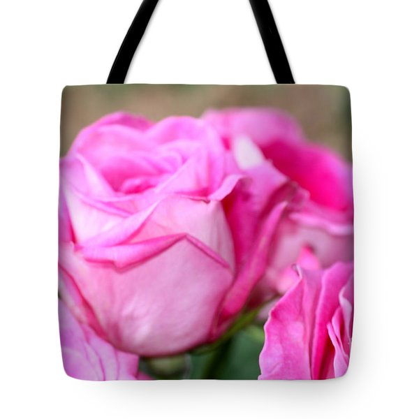 Welcome In Pink Tote Bag by Cathy Dee Janes