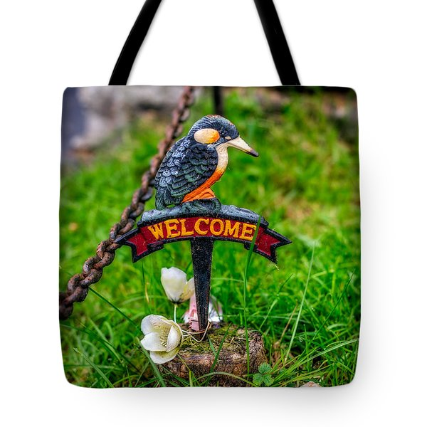 Welcome Sign Tote Bag