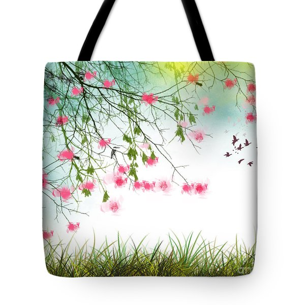Welcome Spring 2016 Tote Bag by Trilby Cole