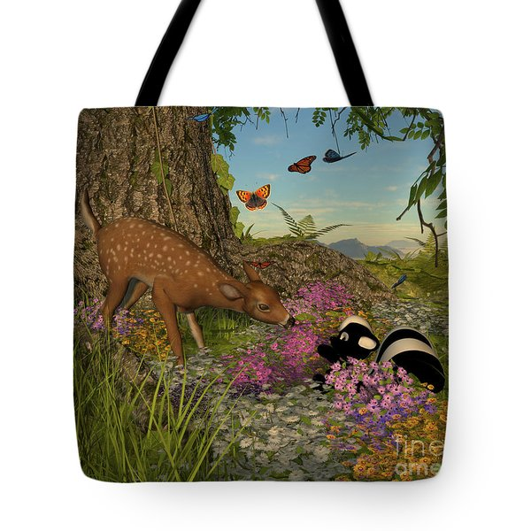 Welcome Spring Tote Bag by Methune Hively