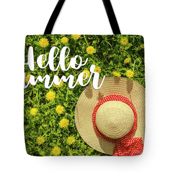 Tote Bag featuring the photograph Welcome Summer by Teri Virbickis