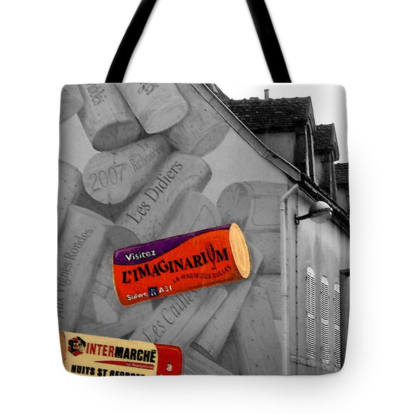 Welcome To Bordeaux Tote Bag by Joan  Minchak