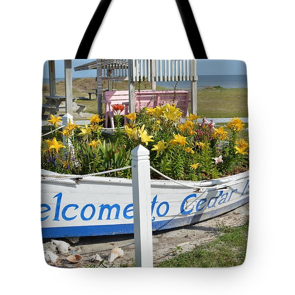 Welcome To Cedar Island Tote Bag